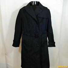 DSCP Military 1999 US Navy RAINCOAT Trench Coat Womens Size 22L 22 Black liner