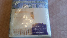 """Classic Selections Collection Blue/White Floral Quilted Bedspread  Size 78""""X55"""""""