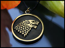 Viking Fenrir Wolf Pendant Necklace With Adjustable String Brass Casting