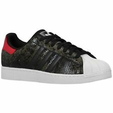ADIDAS ORIGINALS SUPERSTAR 2 SNAKE SKIN MENS SHOES BLACK RED WHITE S84872   8.5