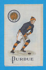 c1910s S22 tobacco silk / felt PURDUE UNIVERSITY - Hockey  NICE!!
