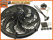"16"" AeroLine Electric Radiator Cooling Fan + Thermostat MUSTANG, CHEVY, DODGE"