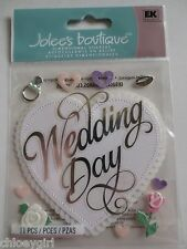 Jolee's Boutique Dimensional Stickers WEDDING DAY rings flowers hearts