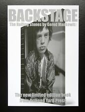 BACKSTAGE THE ROLLING STONES BY GERED MANKOWITZ BROCHURE