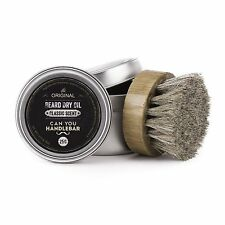 CanYouHandlebar, Classic Scented Beard Balm Dry Oil 2oz can, Beard Oil Brush