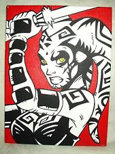 Canvas Painting Star Wars Darth Talon Animated Red Art 16x12 inch Acrylic