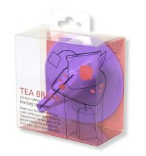 Tea Bag Squeezer & Lid  Cover Food Grade Silicone Rubber