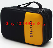 Double Layer Zipper Carrying Case / Bag for FLUKE HIOKI SANWA UNI-T Multimeters