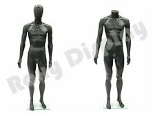 Male Unbreakable Plastic Mannequin Display EggHead Dress Form PS-SM1BKEG