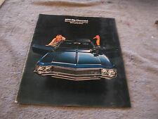 1970 Big Chevroplet Brochure Biscayne Impala Bel Air Caprice