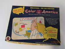 RARE VTG Estate Educational Color AMERICA Wipe On Off 1959 1960 Era Toy Map USA