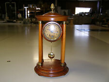 Antique Hamburg American Clock Company clock, 8 day time only, runs well, 1910