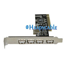 New High Speed USB 2.0 5 Port PCI (4+1) HUB Card Controller PC Adapter