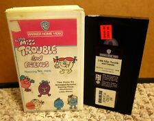 LITTLE MISS TROUBLE cartoon MISTER MEN Roger Hargreaves VHS animation 1983