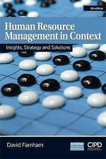 Human Resource Management in Context : Strategy, Insights and Solutions by Davi…