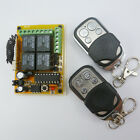 4 Road RF Wireless Remotes Key 433MHZ HCS301 Rolling Code Relay Receiver Board