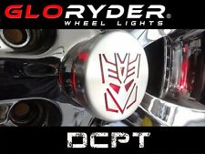 Decepticon Logo Can Am Spyder Automatic Wheel Lights 2 Wheels GloRyder Glo Ryder
