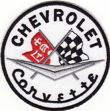 "Chevrolet Corvette 3"" Round Embroidered Iron On Car Patch *New*"