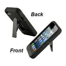 Dual Layer Silicone Rubber Defender Kickstand Hard Case Cover For iPhone 5 5S