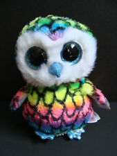 "NWT TY Beanie Boos 6"" ARIA Owl Rainbow Boo Claire's Exclusive Sparkly Eyes NEW"