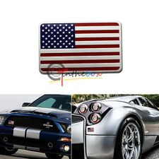 Car/Motorcycle Decal Racing American USA US Flag Decor Sticker 3D Emblem Badge