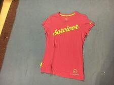 Nike Women's NWOT Pink & Yellow Livestrong Short Sleeve. Size L  FREE SHIPPING