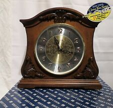 RHYTHM CLARION TONE SYSTEM WOOD MANTLE CLOCK, NEVER USED IN ORIG. BOX