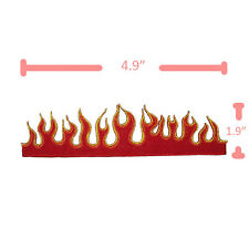 FIRE FLAMES BIKER TATTOO EMBROIDERED IRON ON PATCH HEAT SEAL SEW APPLIQUE DIY
