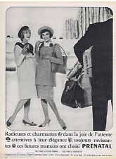 PUBLICITE ADVERTISING 115  1961  PRENATAL  robe de grossesse maternité