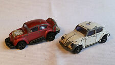 2x alte Spielzeugautos/Vintage toy cars CORGI JUNIORS: VW Hot Rod & VW 1300