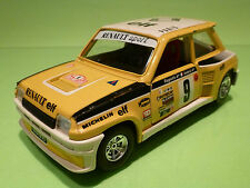 BBURAGO 0160 RENAULT 5 TURBO - MONTE CARLO 1:24 - RARE SELTEN - VERY GOOD