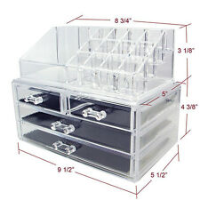 Cosmetic Jewelry Makeup Organizer Case Display Holder Acrylic Drawer Box Storage