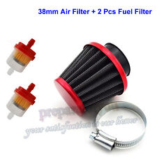 38mm Air Filter Red For GY6 50cc QMB139 Motor Pit Pro Dirt Bike Moped Scooter