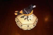 """Songbird Treasures Music Box Collection """"Edelweiss""""  Heritage House Inc. Robin"""