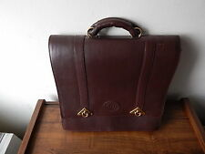 HENK BERG GENUINE LEATHER TRAVEL/CARRY BAG MADE IN AUSTRALIA W HANDLE NO STRAP