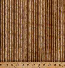 Plains of Africa Bamboo Bamboo Stalks Landscape Cotton Fabric Print BTY D674.05