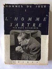 L'HOMME SARTRE HOMMES DU JOUR VOL 1 1947 BEIGBEDER VISAGES CONTEMPORAINS