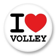 """Pin Button Badge Ø25mm 1"""" ♥ I Love You j'aime Sport Volley Volleyball"""