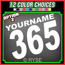 3 Motorcycle MX Name Number Plate Race Decals Stickers ATV SX BMX Dirt Bike Kart
