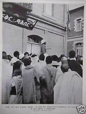 ARTICLE DE PRESSE 1935 ADDIS ABEBA LE NÉGOUS AU OBSÉQUES DE LA REINE ASTRID