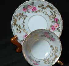 Shafford Gold Rose banded  Cup and Saucer