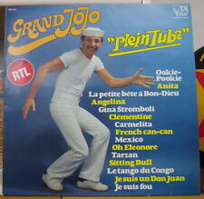 "GRAND JOJO ""PLEIN TUBE"" PROMO RTL FRENCH LP DISQUES VOGUE 1980"