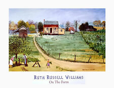 "African American Art ""On the Farm"" Black Folk Art Print by Ruth Russel Williams"