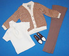 Vintage Ken Doll FRATERNITY MEETING #1408 Slacks Shirt Sweater Cardigan 1964