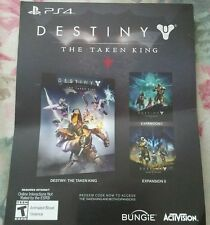 PS4 Destiny The Taken King + Expansions 1 + 2 Voucher Card Only Destiny Required