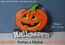 HALLOWEEN ZUCCA FORMA IN POLISTIROLO 3D DECORAZIONE FESTA DJ PARTY HORROR