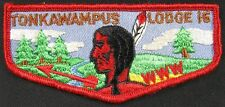 Vintage Shoulder Patch BSA 1970's WWW Tonkawampus Lodge 16 Indian