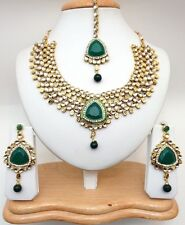 Indiano asiatico Gioielli Bollywood BRIDAL etnica partito Wear kundan Collana Set