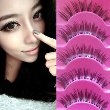 5 Pairs/lot Makeup Handmade Long Thick Cross False Eyelashes Eye Lash Newest