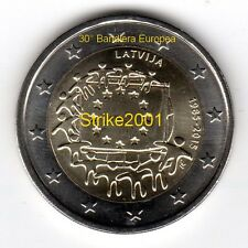 NEW !!! 2 EURO COMMEMORATIVO LETTONIA 2015 30° Bandiera Europea ! disponibile !